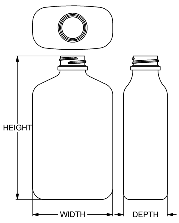 350 ml Capital Oblong