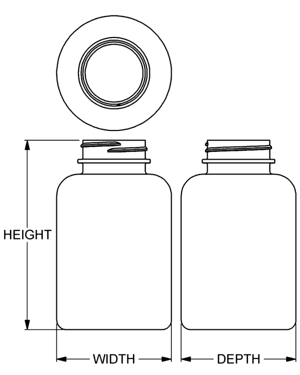 400 cc Classic Series Wide-Mouth Round Packer