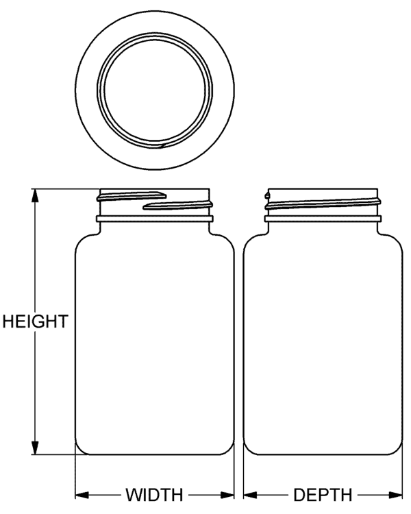 200 cc Classic Series Wide-Mouth Round Packer