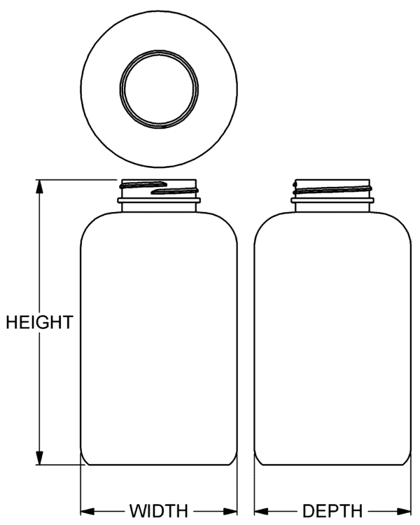 750 cc Classic Series Wide-Mouth Round Packer