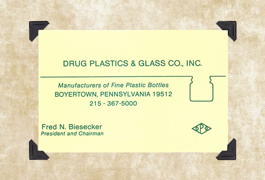 Our History   Drug Plastics & Glass