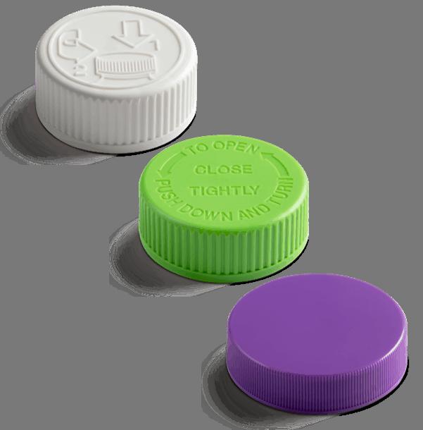 PP unlined plastic closures from Drug Plastics