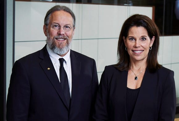 Rick Biesecker, CEO of Drug Plastics and Lissa Biesecker Longacre, President of Drug Plastics